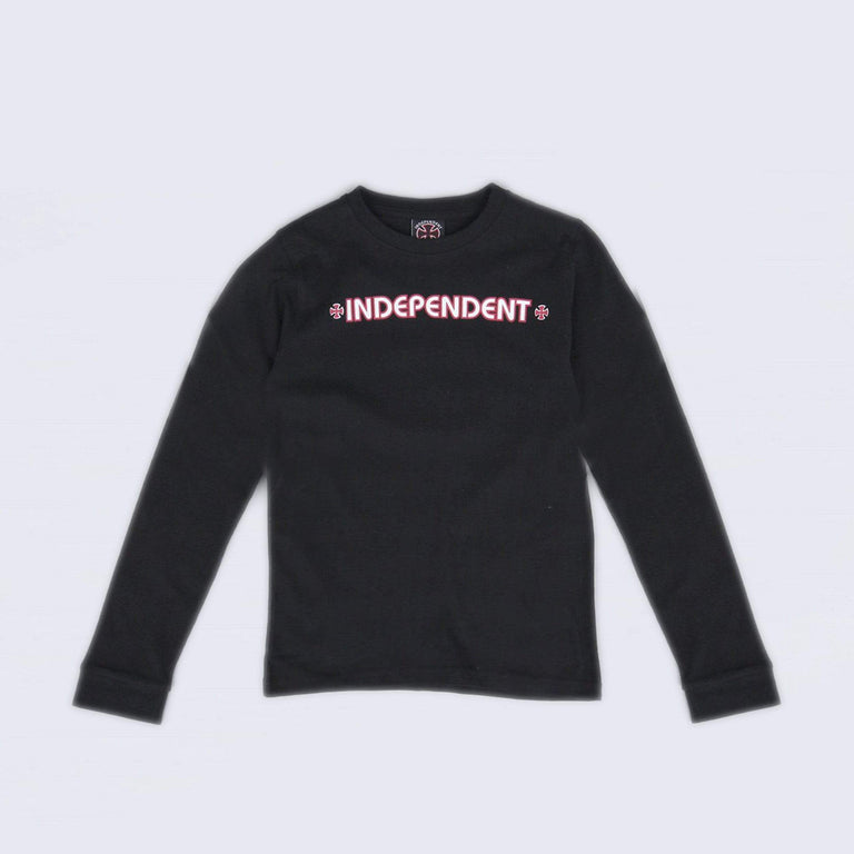 Independent Bar Cross Youth Longsleeve T-Shirt Black