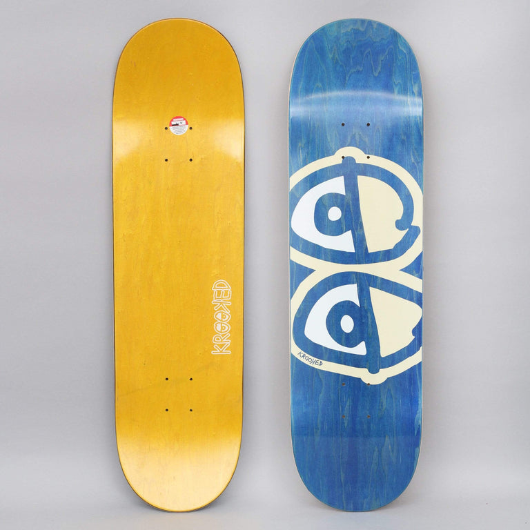 Krooked 8.75 Team Eyes Skateboard Deck White
