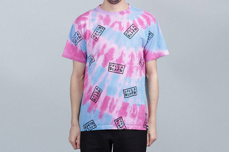 Life's A Beach All Over T-Shirt Tie Dye Purple
