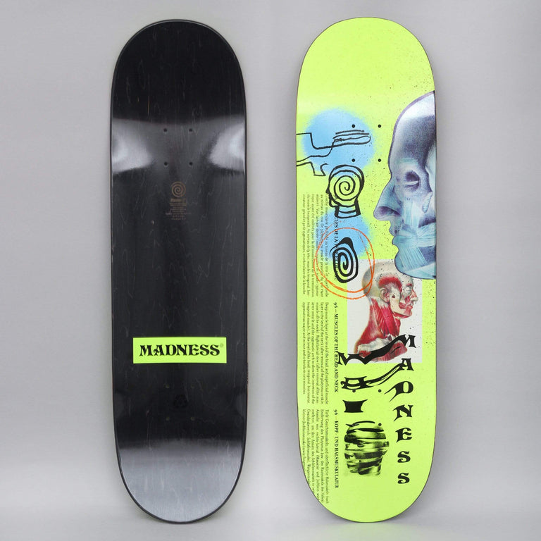Madness 8.75 Skinned R7 Skateboard Deck Neon Yellow