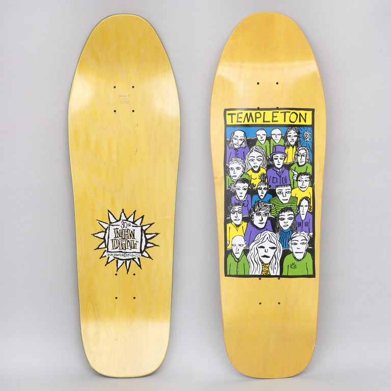 New Deal 10.13 Templeton Crowd SP Skateboard Deck Yellow