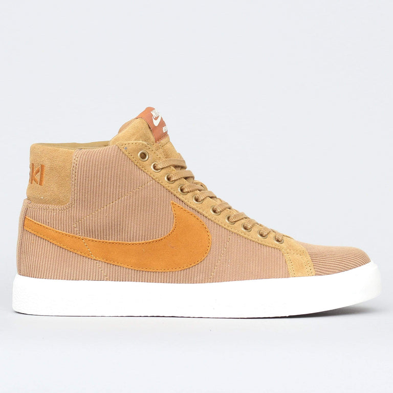 Nike SB Oski Blazer Mid ISO Shoes Muted Bronze / Burnt Sienna - Sail