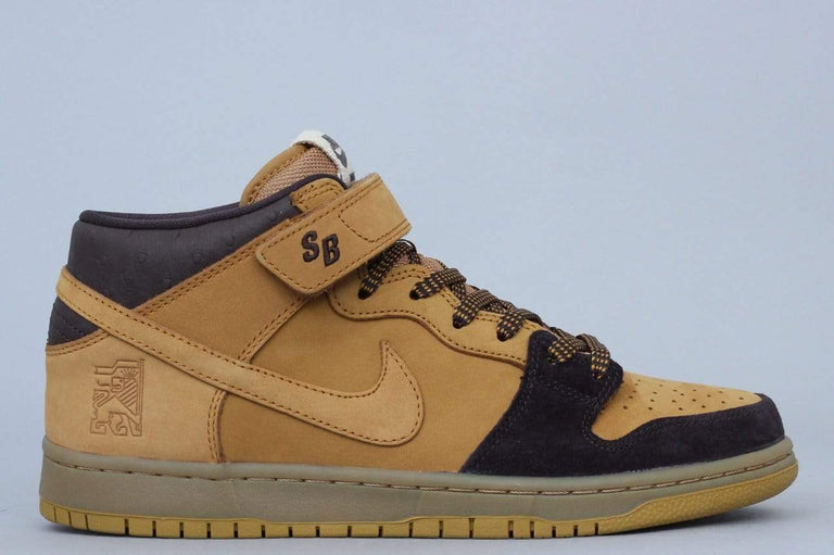 Nike SB Dunk Mid Pro Shoes Cappuccino / Bronze - Wheat