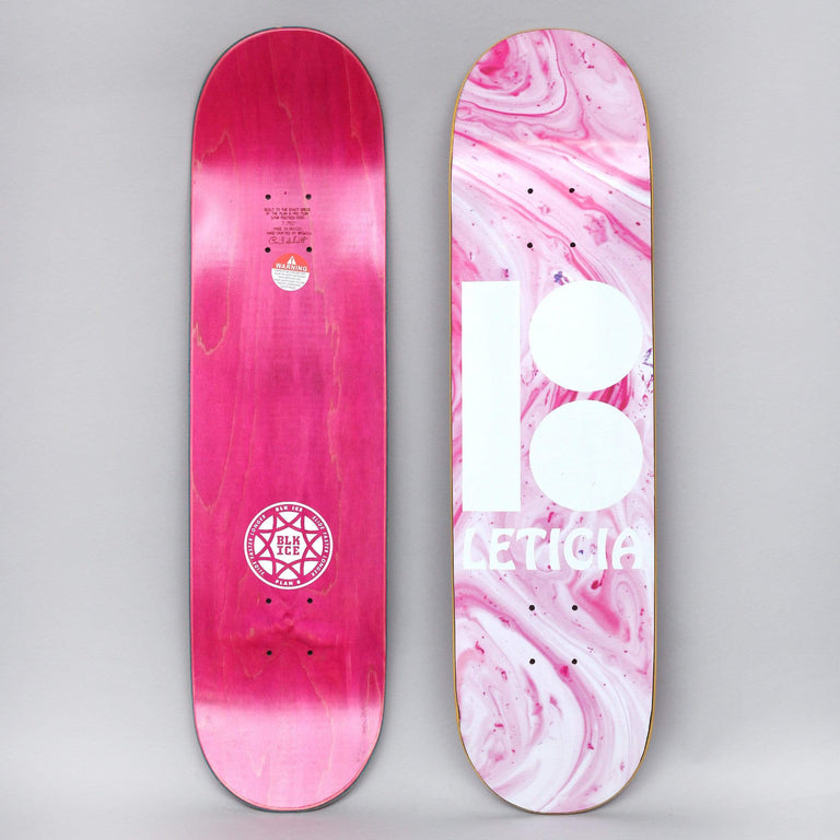 Plan B 7.75 Leticia Wavy Black Ice Slick Skateboard Deck