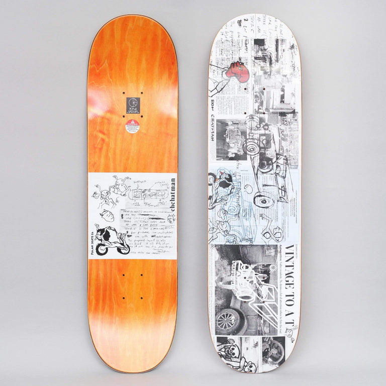 Polar 8.25 Ron Chatman Model T Skateboard Deck White