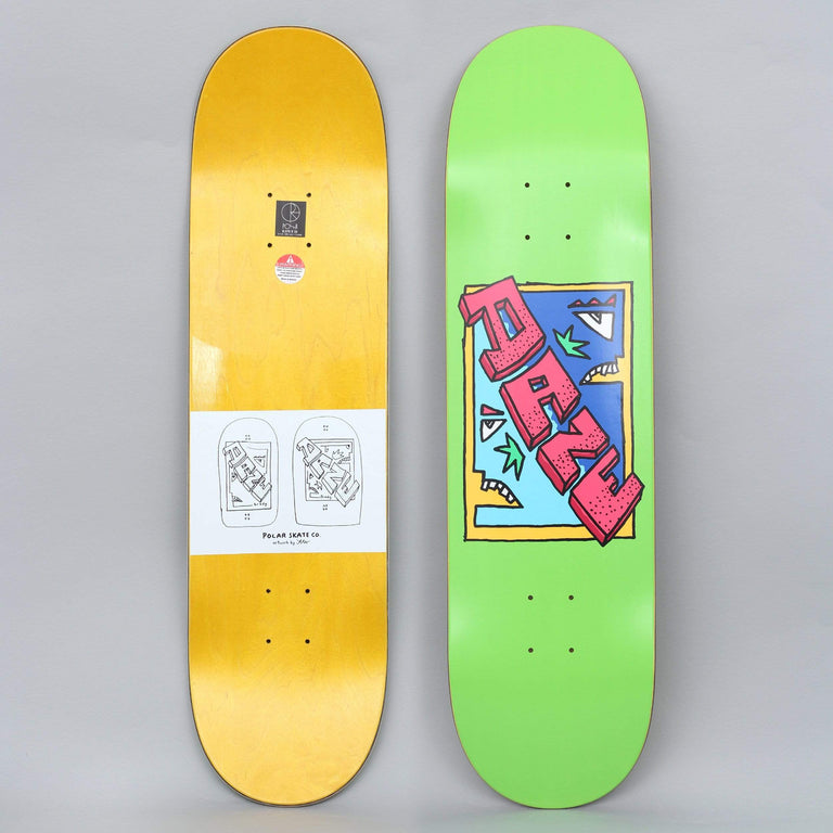 Polar 8.38 Dane Brady Cake Face Skateboard Deck Green