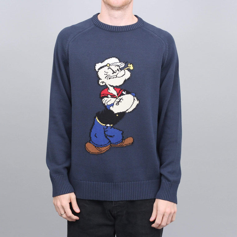 Pop Trading Pop Eye Knit Crew Navy