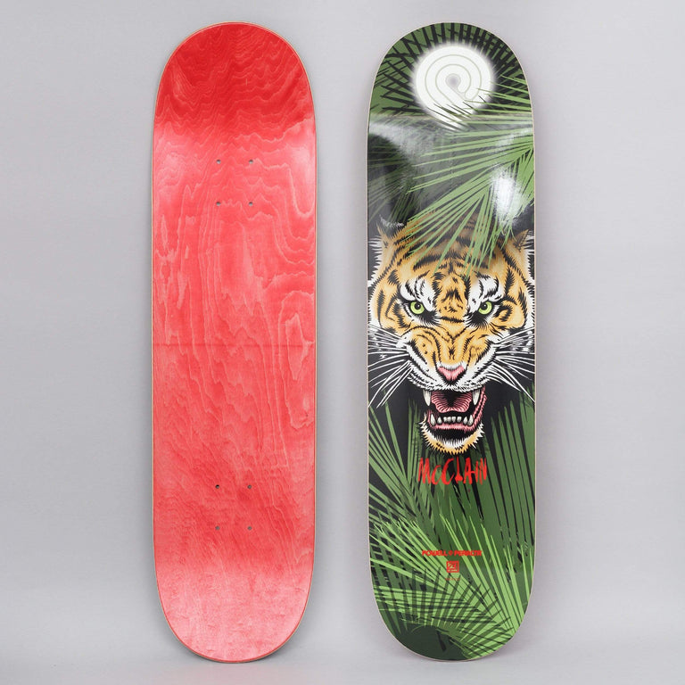 Powell Peralta 8.25 Brad McClain Tiger Shape 243 Skateboard Deck Green / Yellow