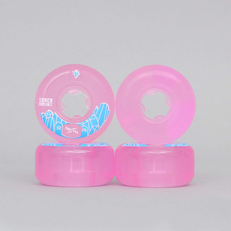 Ricta 52mm 99A Super Crystals Skateboard Wheels Fuschia