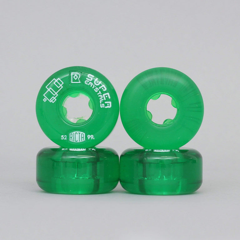 Ricta 52mm 99A Super Crystals Skateboard Wheels Green