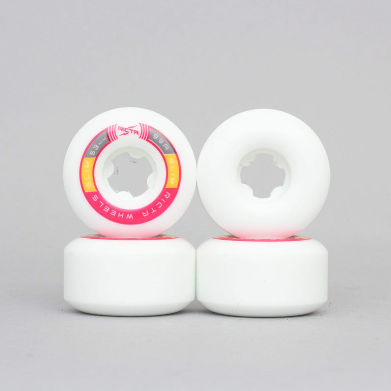 Ricta 53mm 99A Rapido Slim Skateboard Wheels White / Pink
