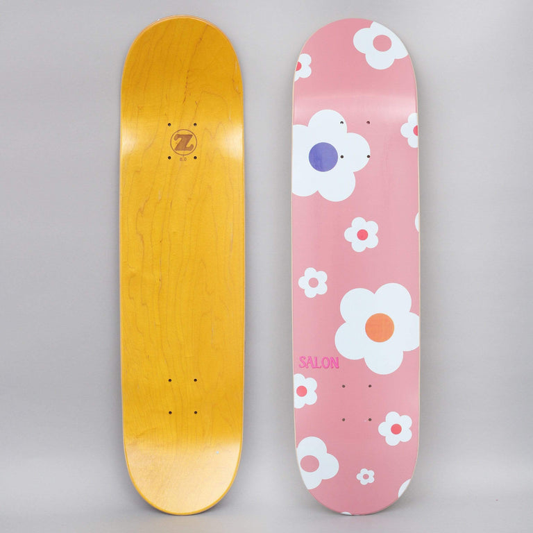 Salon 7.75 Flower Power Skateboard Deck Pink