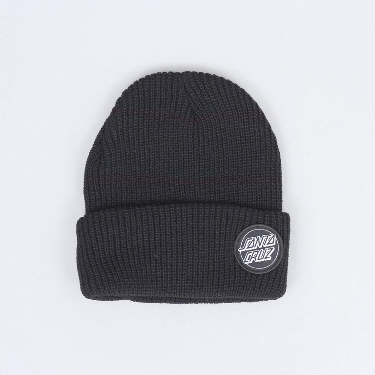 Santa Cruz Outline Dot Beanie Black