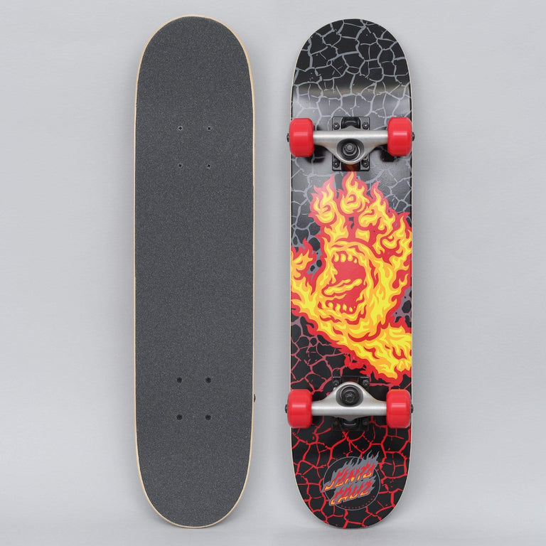 Santa Cruz 6.75 Flame Hand Complete Skateboard Black / Orange