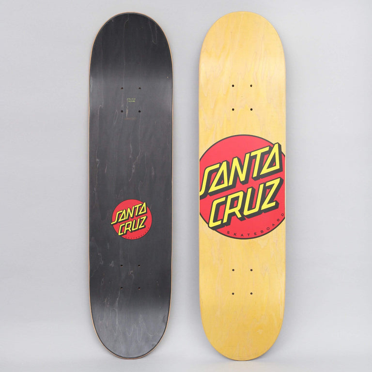 Santa Cruz 7.75 Classic Dot Skateboard Deck Yellow