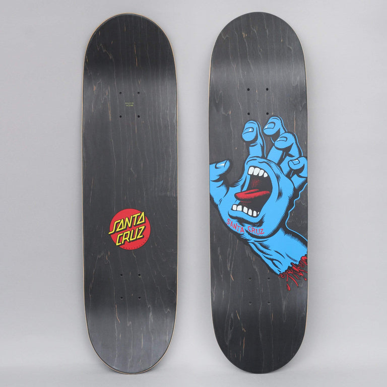 Santa Cruz 8.6 Screaming Hand Skateboard Deck Black / Blue