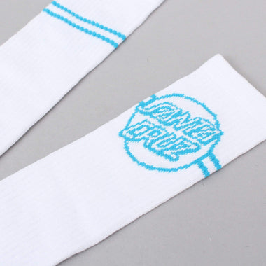 """2pack SANTA CRUZ OTHER DOT 3/"""" DECAL STICKER TURQUOISE//BLK//WHT"""