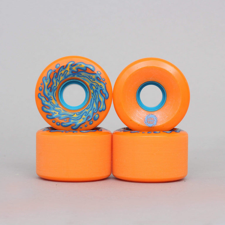 Santa Cruz 60mm 78A Slime Balls OG Slime Wheels Orange / Blue