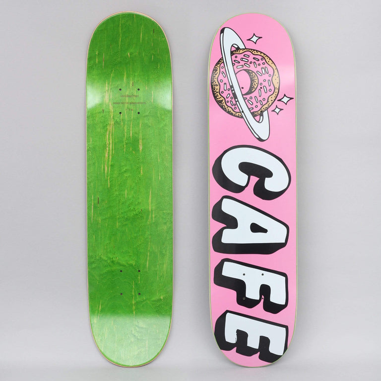 Skateboard Cafe 7.75 Planet Donut Skateboard Deck Pink