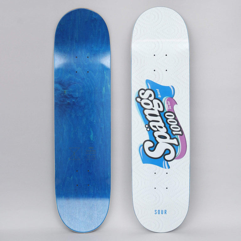 Sour 8.18 Spangs Rolls Of Steez Skateboard Deck White