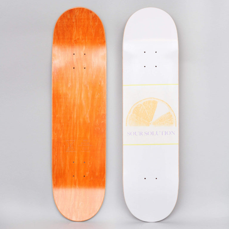 Sour 8.25 Citrus Grape Skateboard Deck White