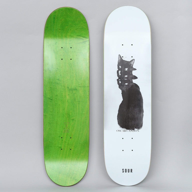 Sour 8.375 Oscar Bad Cat Skateboard Deck White