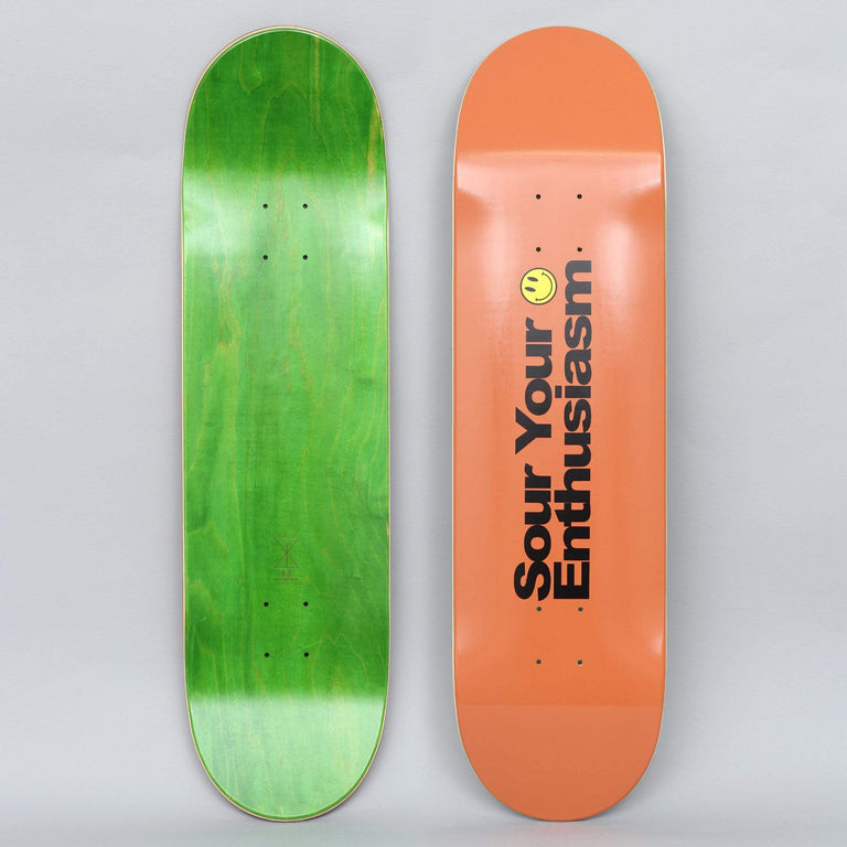 Sour 8.5 Curb Your Sour Skateboard Deck Orange