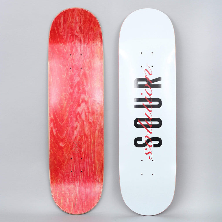 Sour 8.75 White Sour Script Skateboard Deck