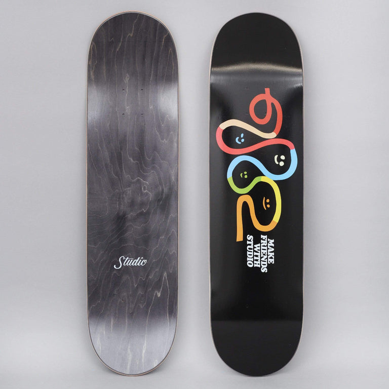 Studio 8.125 Make Friends Skateboard Deck Black