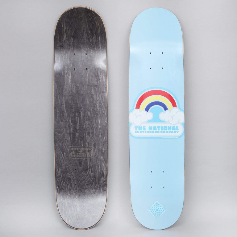 The National 7.75 Double Rainbow Skateboard Deck Blue