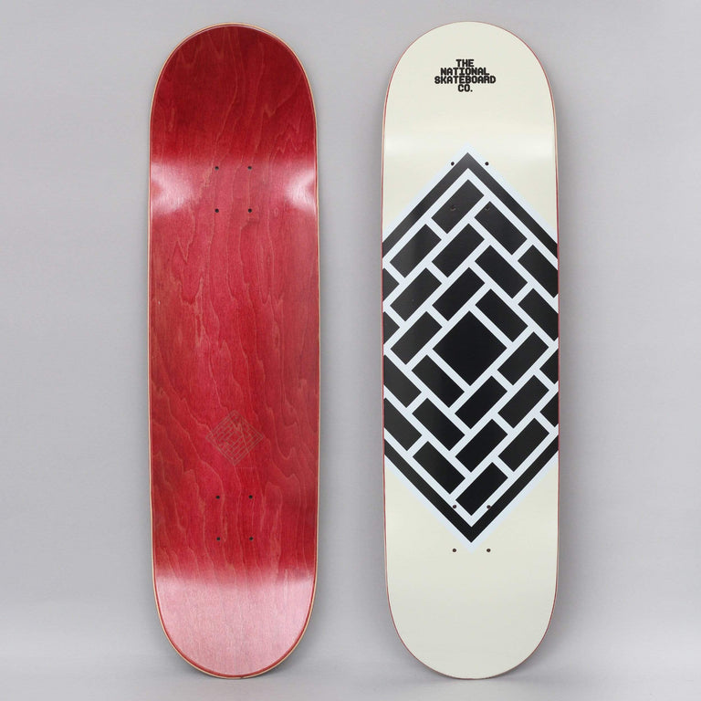 The National 8.125 Classic Logo Skateboard Deck Cream