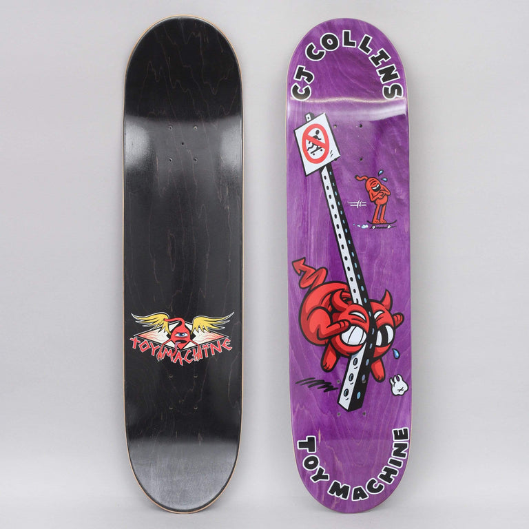 Toy Machine 7.75 Collins Fountain Skateboard Deck Purple