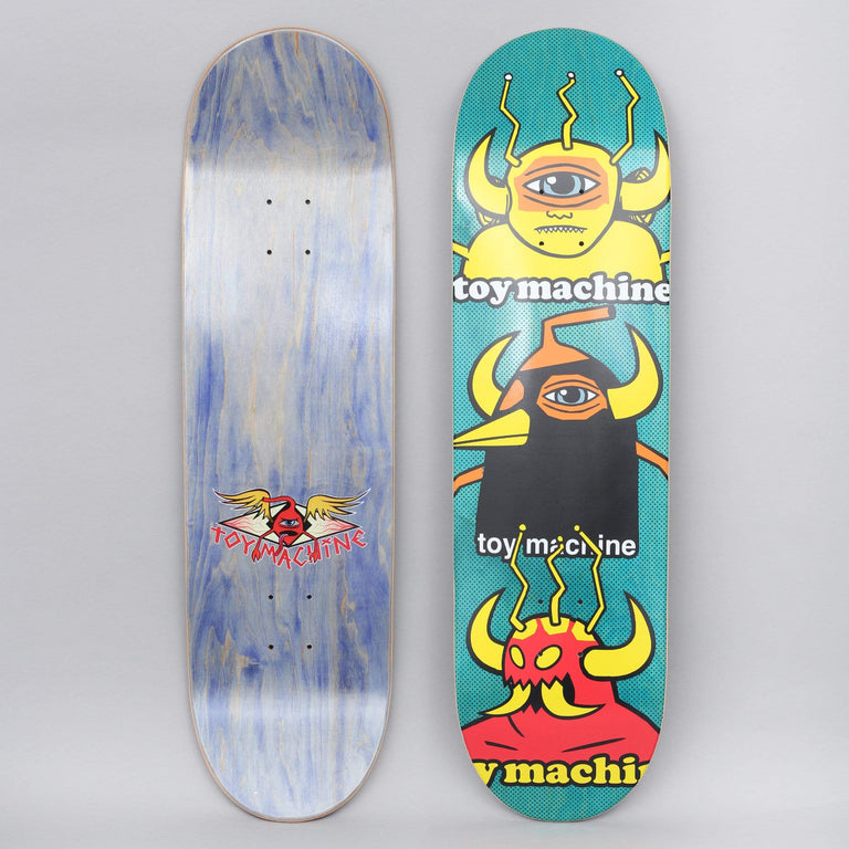 Toy Machine 9 Chopped Up Skateboard Deck Green