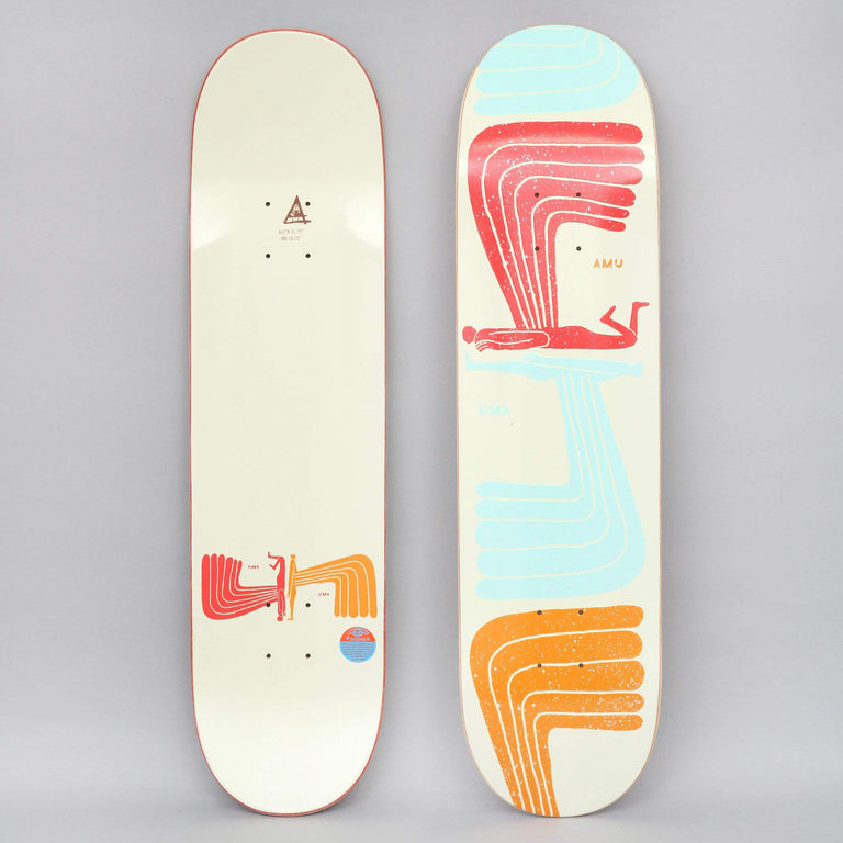 Uma 8 Wing Wing Skateboard Deck Cream