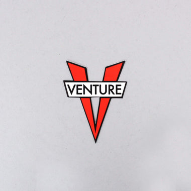 Venture V Die Cut Small Sticker Red