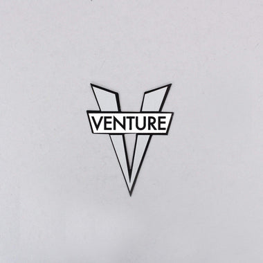 Venture V Die Cut Small Sticker Silver