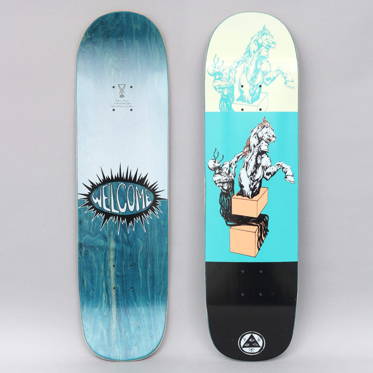 Welcome 8.5 Hierophant On Big Bunyip Skateboard Deck Teal / Black