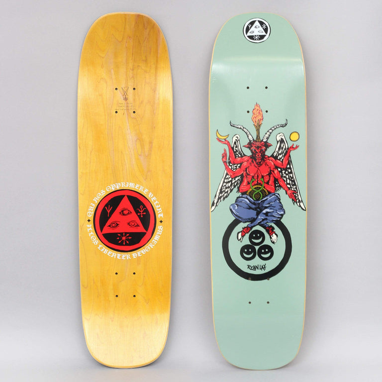 Welcome 8.6 Lay Bapholit On Stonecipher Skateboard Deck Sage