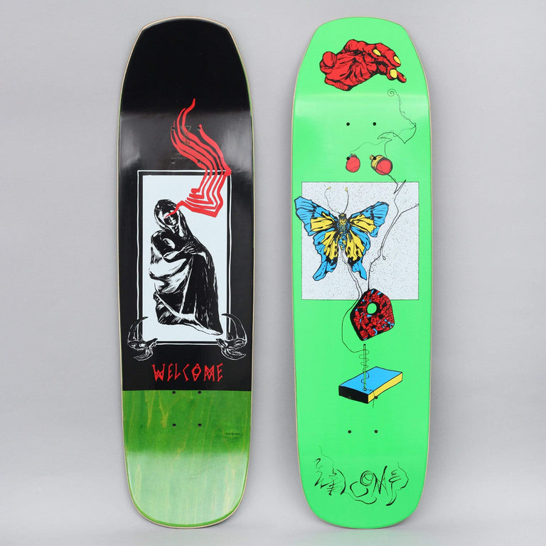 Welcome 8.6 Puppetmaster On Banshee Skateboard Deck Bright Green