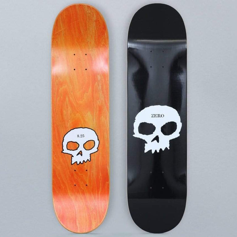 Zero 8.25 Single Skull Skateboard Deck Black
