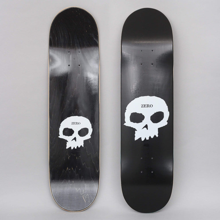 Zero 8 Single Skull Skateboard Deck Black