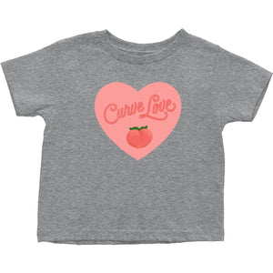 Curve Love Cotton T-Shirt (Toddler Sizes)-T-Shirts-Heather Grey-2T-AllGo