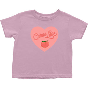 Curve Love Cotton T-Shirt (Toddler Sizes)-T-Shirts-Pink-2T-AllGo