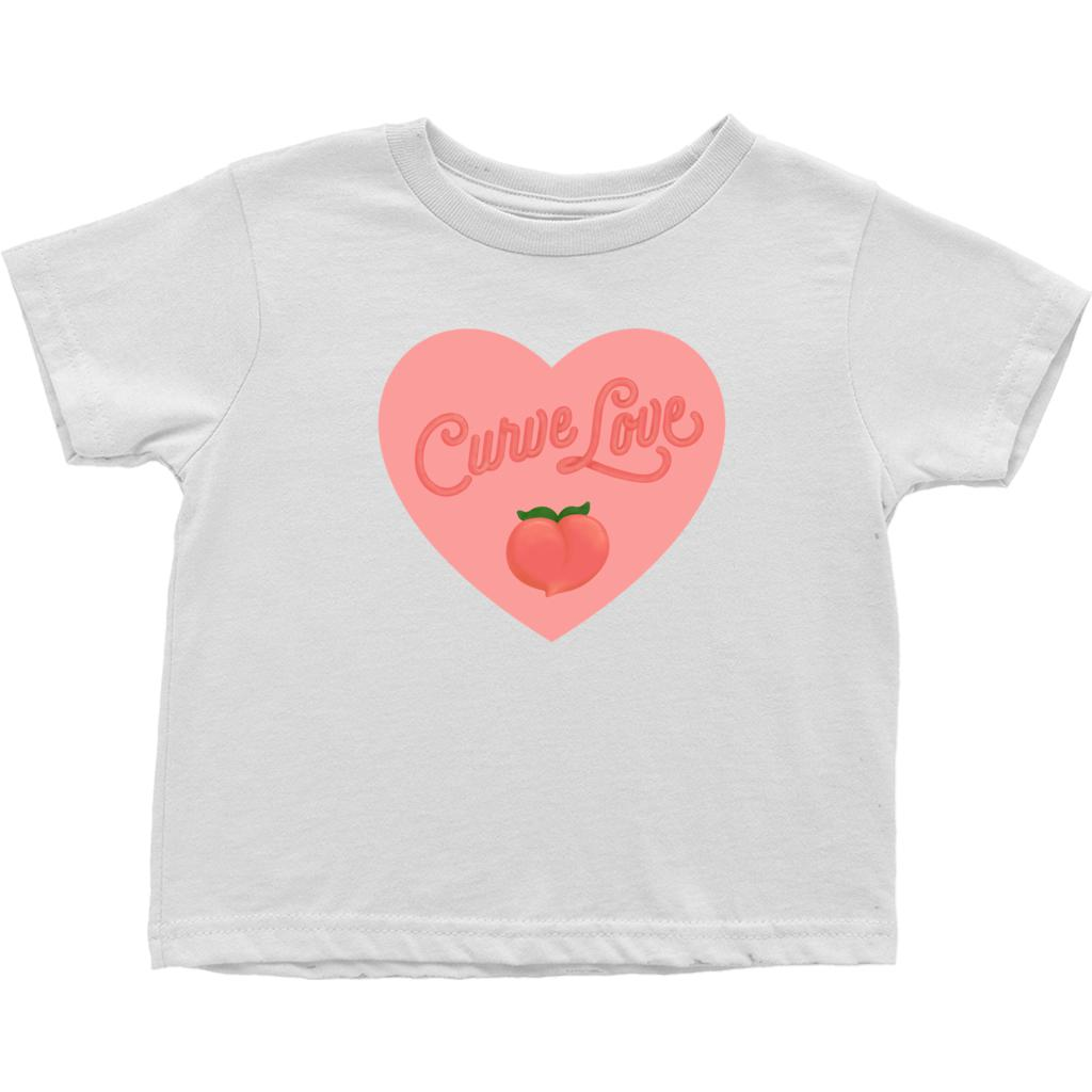 Curve Love Cotton T-Shirt (Toddler Sizes)-T-Shirts-White-2T-AllGo