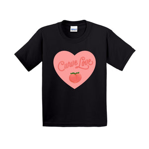 Curve Love Cotton T-Shirt (Youth Sizes)-Black-Extra Small (XS)-AllGo