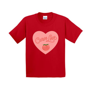 Curve Love Cotton T-Shirt (Youth Sizes)-Red-Extra Small (XS)-AllGo