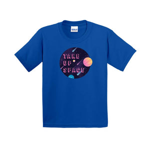 Take Up Space Cotton T-Shirt (Youth Sizes)-Royal-Extra Small (XS)-AllGo