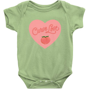 Curve Love Onesie-Center Front-Key Lime-NB-AllGo