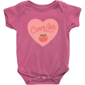 Curve Love Onesie-Center Front-Hot Pink-NB-AllGo