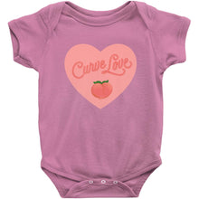 Load image into Gallery viewer, Curve Love Onesie-Center Front-Raspberry-NB-AllGo